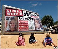 Madeleine McCann appeal poster