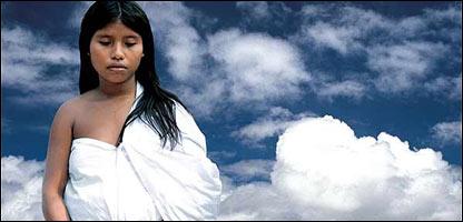 Kualekn es la due�a del algod�n en la cultura Kogui de Colombia