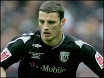 Jason Koumas in action for West Brom