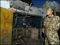 Soldier at site of Monday's blast