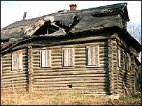 Run-down Russian house