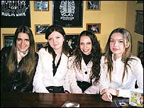 Group of Russian female students