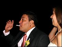 Luis Fernando Restrepo el día de su boda