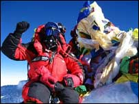 Top of the world: Nigel Hart on Mount Everest