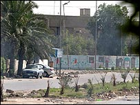 The street outside Iraq's finance ministry