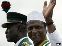 Nigerian President Umaru Yar'Adua