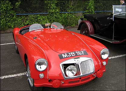Vintage MG belonging to enthusiast