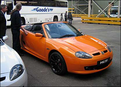 MG TF pre-production sports car