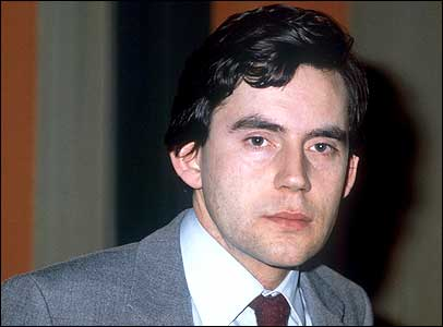 Gordon Brown as a newly elected MP in 1983