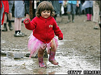 Child at Glastonbury