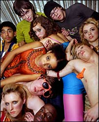 The cast of E4 drama Skins