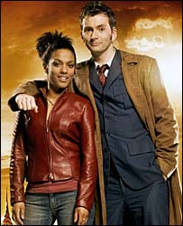 Freema Agyeman and David Tennant in Doctor Who