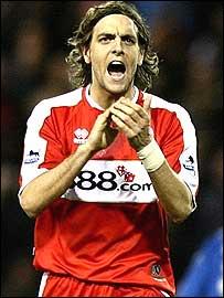 Middlesbrough defender Jonathan Woodgate
