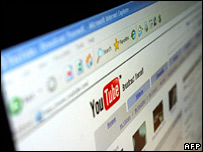 A computer shows YouTube (file image)