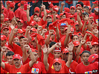 Pro-Chavez supporters rally in Caracas