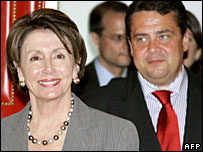 Nancy Pelosi and Sigmar Gabriel 28/05/07