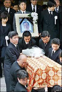 Funeral of Japanese Agriculture Minister Toshikatsu Matsuoka - 30/05/07