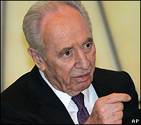 Veteran Israeli politician Shimon Peres
