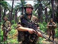 British soldiers in Sierra Leone