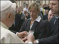 McCanns meeting the Pope