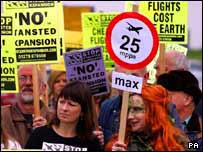 Stansted expansion protest
