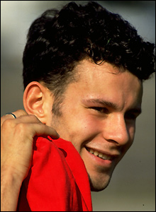Ryan Giggs debuts as a 17-year-old