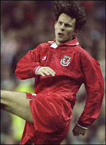 Giggs in action against Romania