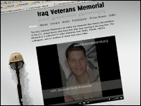 iraqmemorial.org website (screenshot)