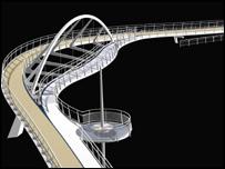 Design for Riverside Footbridge, Cambridge