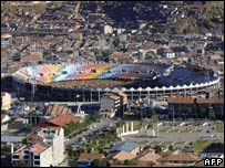 The Inca Garcilaso de la Vega football stadium in Cuzco, Peru