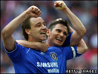 John Terry and Frank Lampard of Chelsea