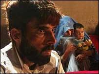 Baryaly Noorzai, his wife Najiba and baby Mirwais