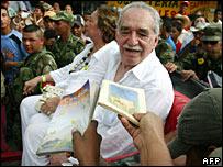 Gabriel Garcia Marquez and his wife Mercedes Barcha