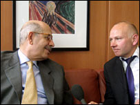 Dr Mohamed ElBaradei and Rob Broomby