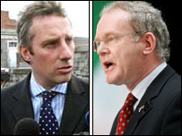 Ian Paisley Jr (left) and Martin McGuinness