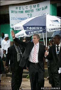 Tony Blair in Sierra Leone