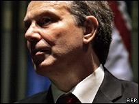 Tony Blair in Libya
