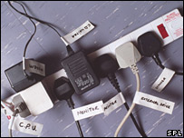 Tangle of plugs