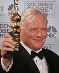Sir Anthony with a 2006 Golden Globe lifetime achievement award