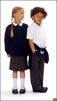 Children in Asda school uniforms