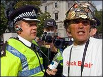 Parliament square protester Brian Haw