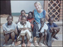 Marsali Campbell with rescued street children