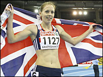 Great Britain 400m runner Nicola Sanders