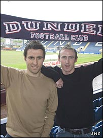 David Worrell and David O'Brien at Dens Park