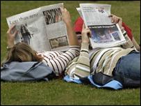 Читающие газету