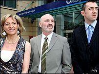 Martina Anderson, Alex Maskey and Daithi McKay of Sinn Fein
