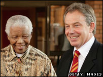 Nelson Mandela and Tony Blair