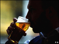 A man drinks a pint of beer (file image)