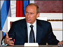 Президент России Владимир Путин на встрече с президентом Греции в Кремле 31 мая 2007