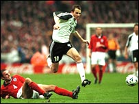 Dietmar Hamann scored the winner for Germany in 2000